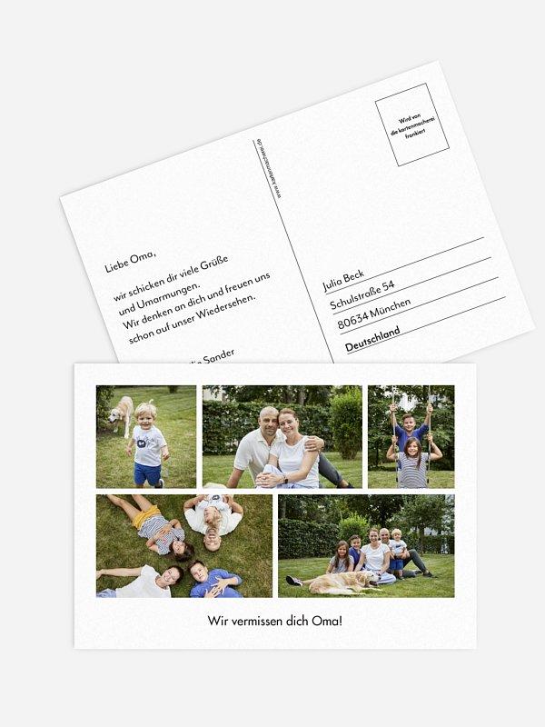 Postkarte Direktversand Bilder Mosaik