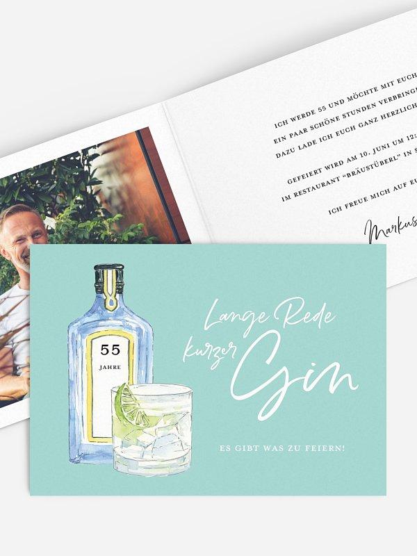 Geburtstagseinladung Gin Time
