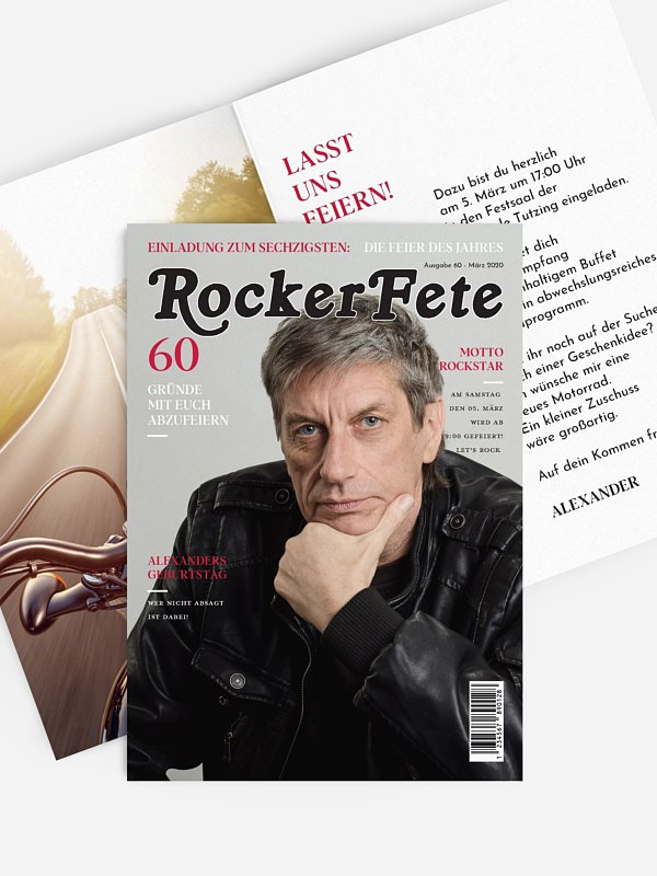 Einladung 60. Geburtstag Rocker Magazin
