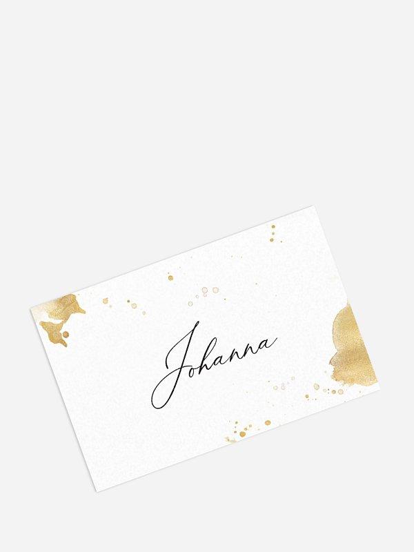 Tischkarte Geburtstag Champagnerglas