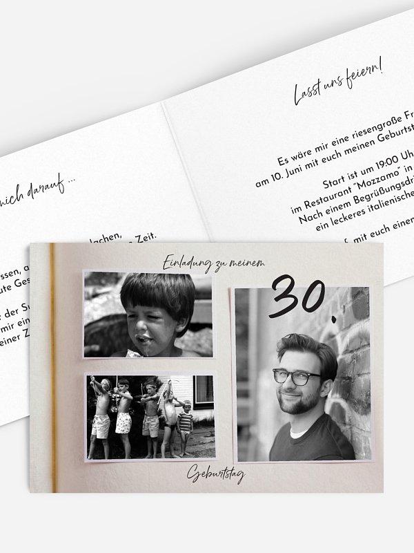 Einladung 30. Geburtstag Fotobuch