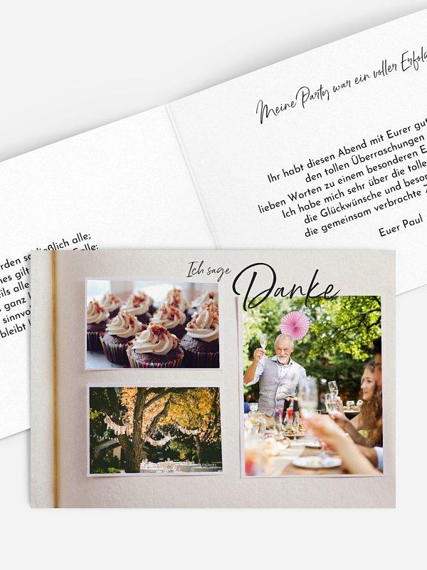 Dankeskarte Geburtstag Fotobuch