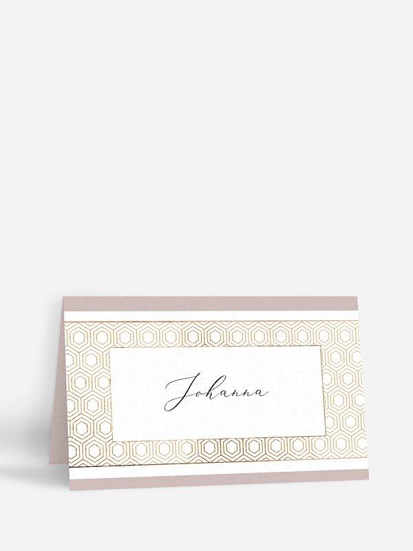 Tischkarte Geburtstag Label
