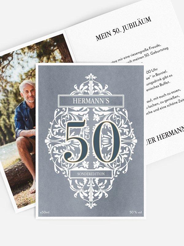 Einladung 50. Geburtstag Gincredible