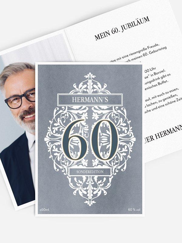 Einladung 60. Geburtstag Gincredible