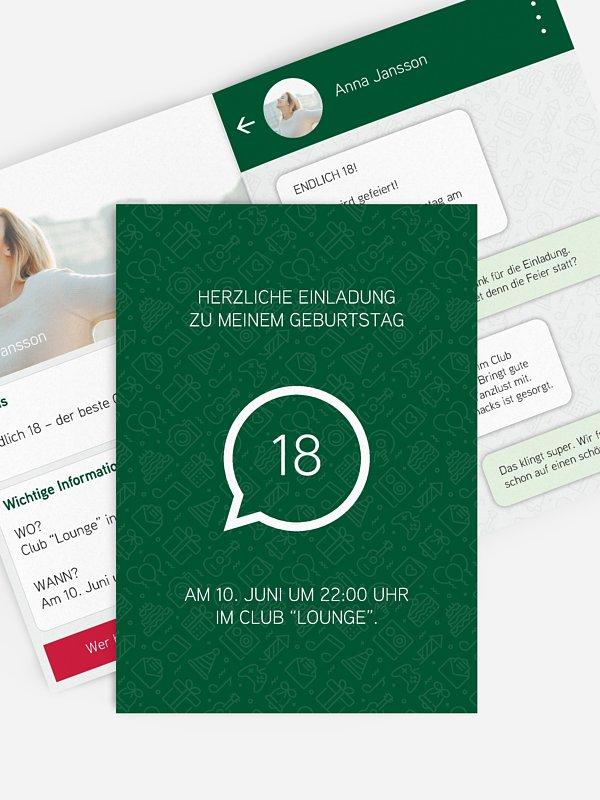 Einladung 18. Geburtstag Messenger