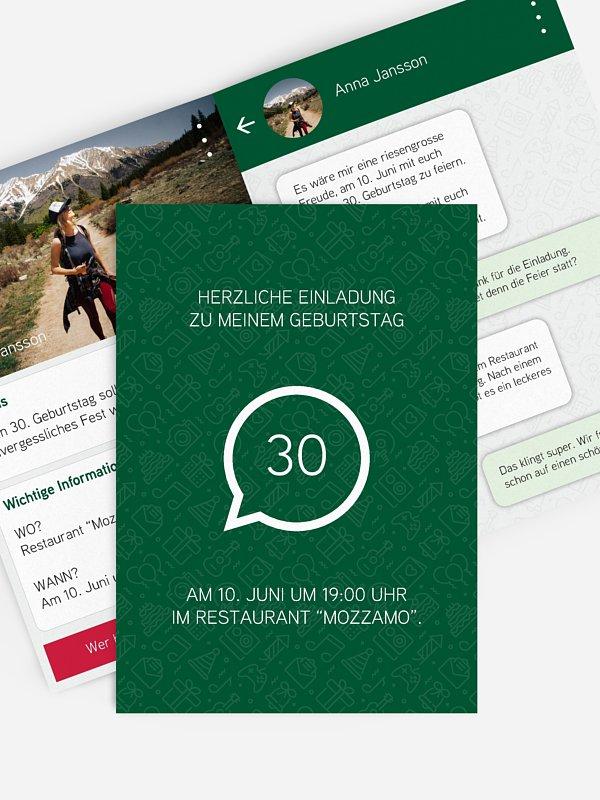 Einladung 30. Geburtstag Messenger