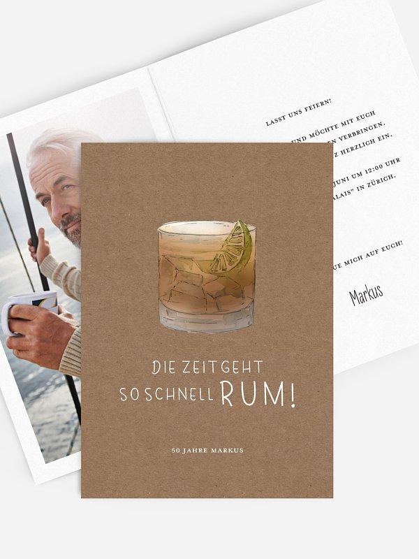 Einladung 50. Geburtstag Rum