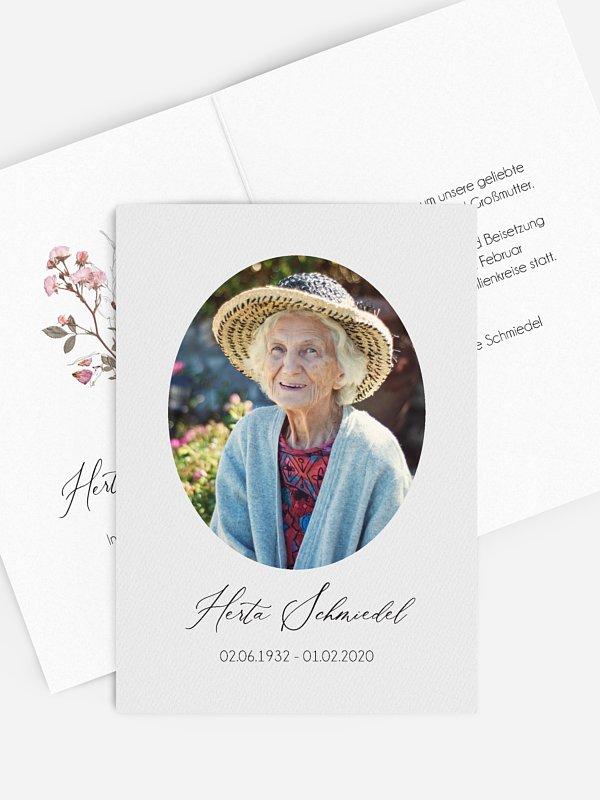 Trauerkarte Flower Portrait