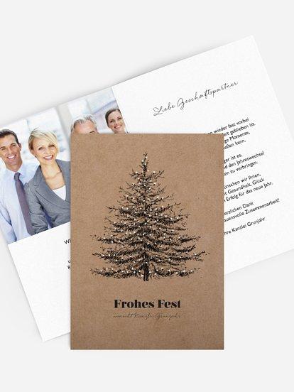 """Geschäftliche Weihnachtskarte """"Pinetree"""""""