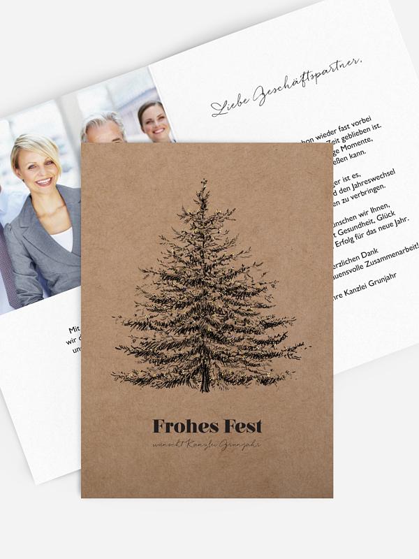 Spendenkarten Geschäftlich Pinetree