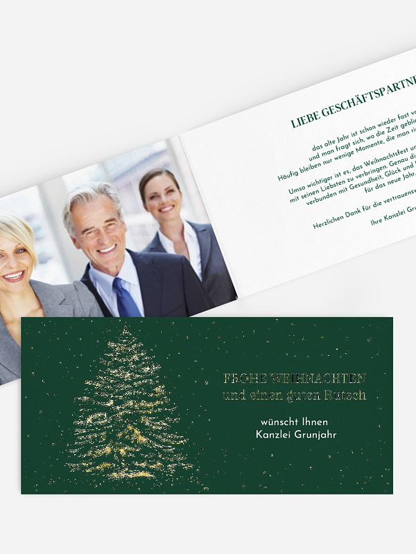 Geschäftliche Weihnachtskarte Tannenglanz