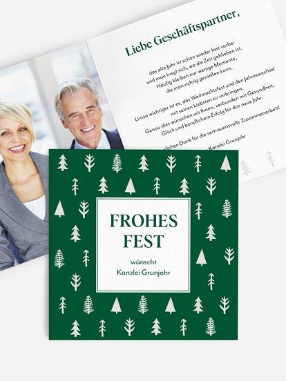 """Geschäftliche Weihnachtskarte """"Tannenstempel"""""""