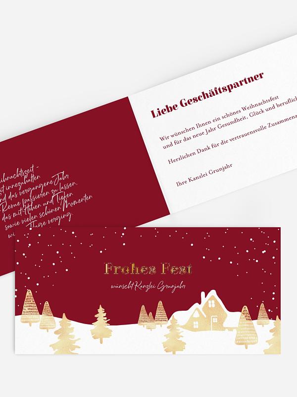 Geschäftliche Weihnachtskarte Baumlandschaft