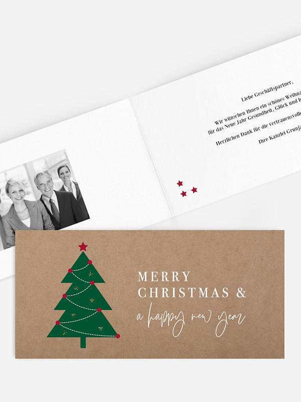 Geschäftliche Weihnachtskarte Simple Tree