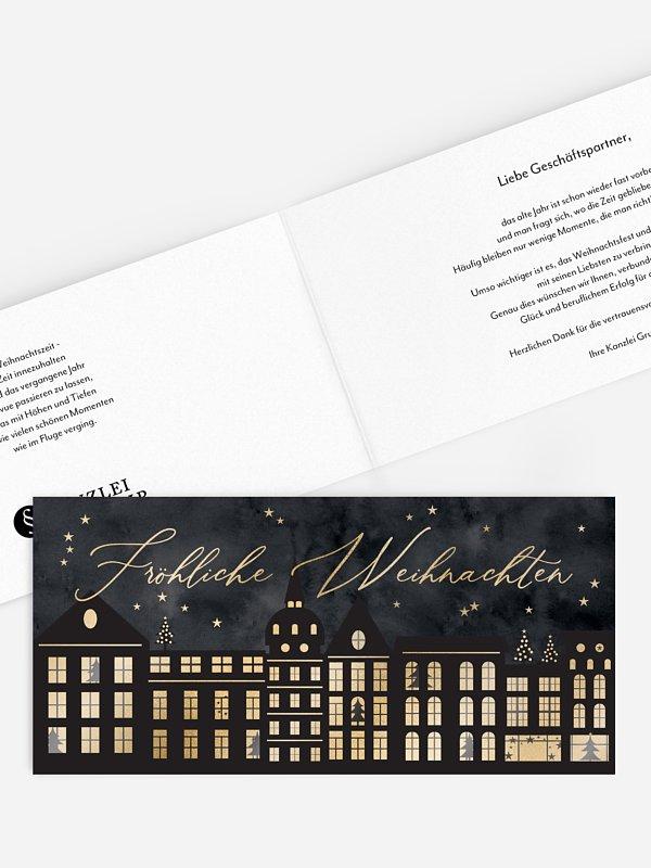 Geschäftliche Weihnachtskarte Weihnachtswelt