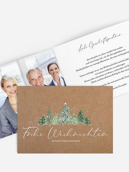 """Geschäftliche Weihnachtskarte """"Weihnachtswald"""""""