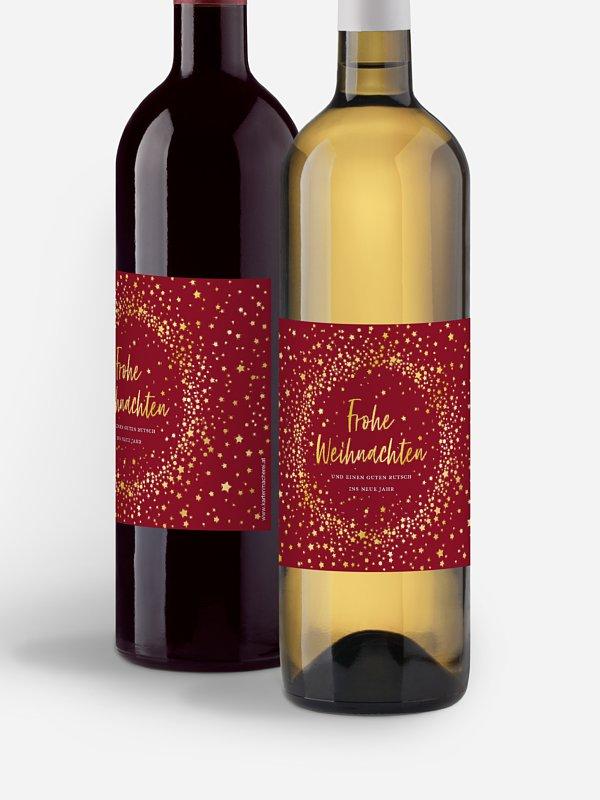 Flaschenetikett geschäftlich Weihnachtsnacht