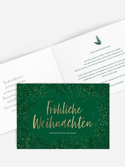 """Geschäftliche Weihnachtskarte """"Green Branch"""""""