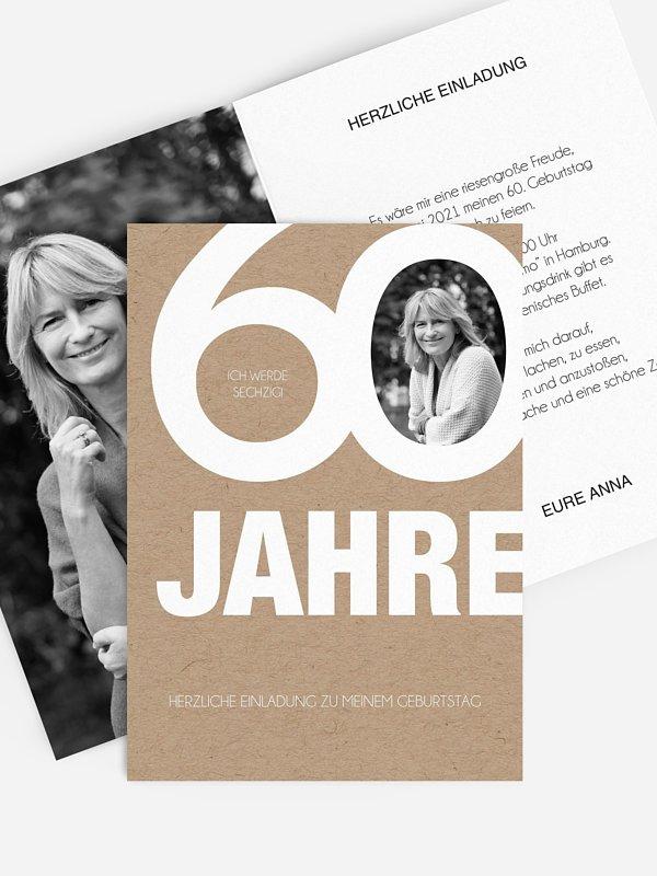 Einladung 60. Geburtstag Tolle Nummer
