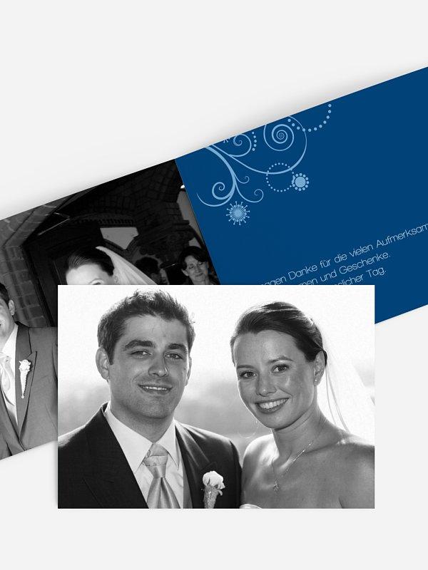 Dankeskarte Hochzeit Sternblume