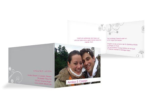 Hochzeitseinladung Sternblume