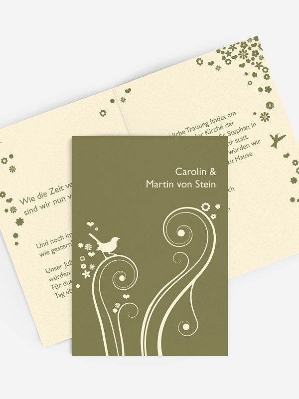 Einladung zur Goldenen Hochzeit Blumenzauber