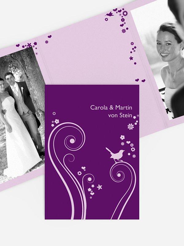 Dankeskarte Hochzeit Blumenzauber