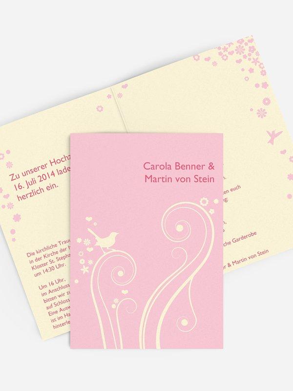 Hochzeitseinladung Blumenzauber