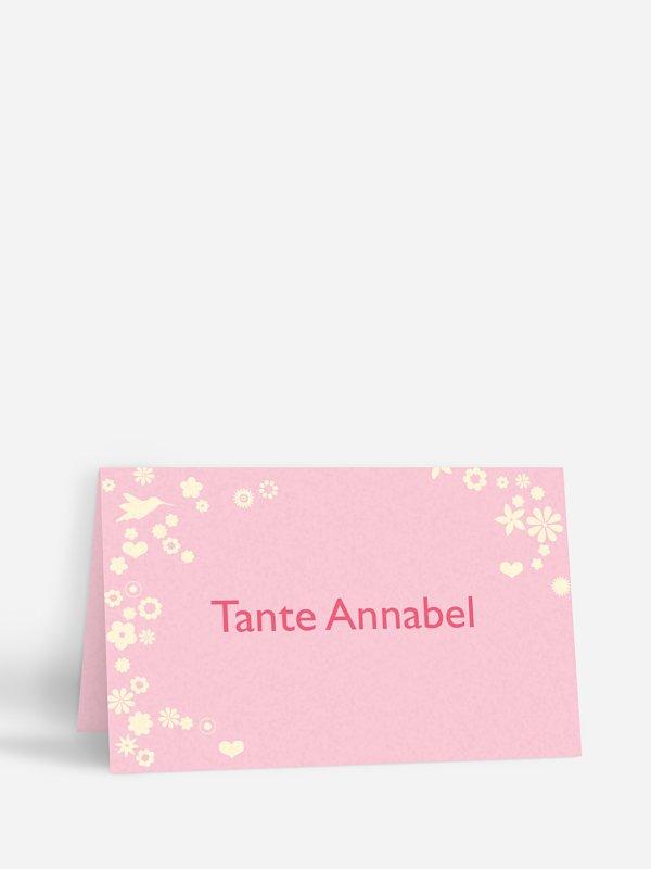 Tischkarte Hochzeit Blumenzauber