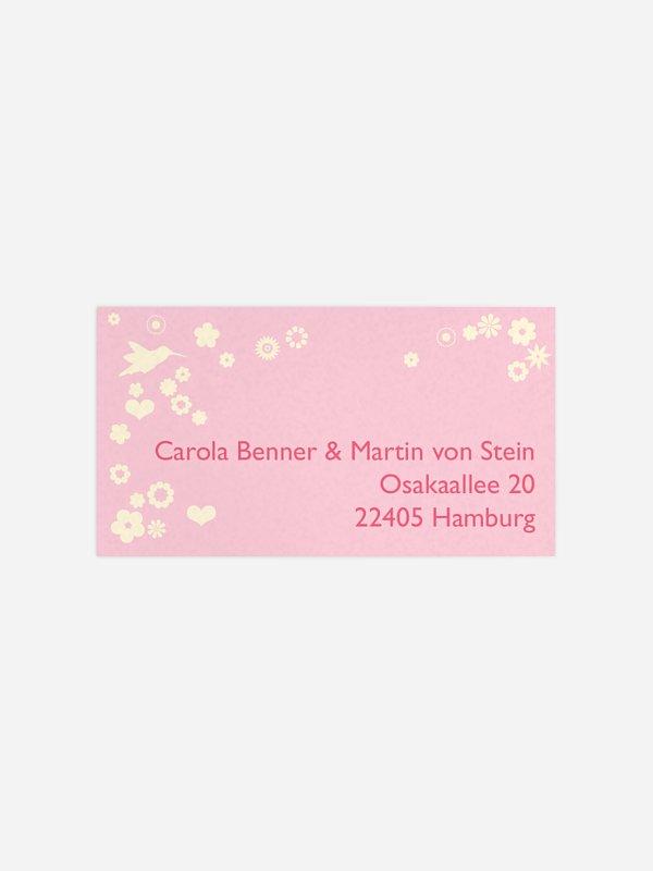 Empfängeraufkleber Hochzeit Blumenzauber