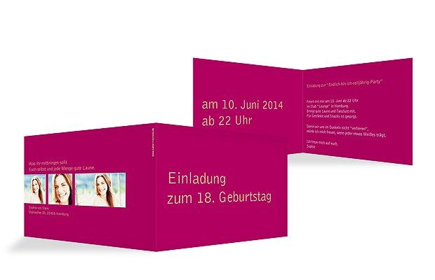 """einladung 18. geburtstag """"farbreich"""", Einladungsentwurf"""