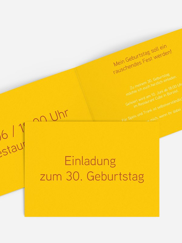 Einladung 30. Geburtstag Farbreich