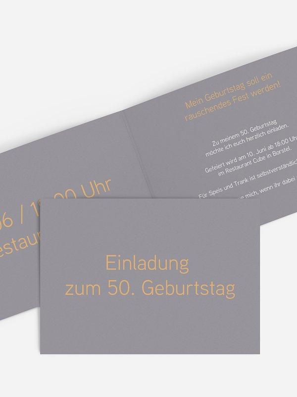 Einladung 50. Geburtstag Farbreich