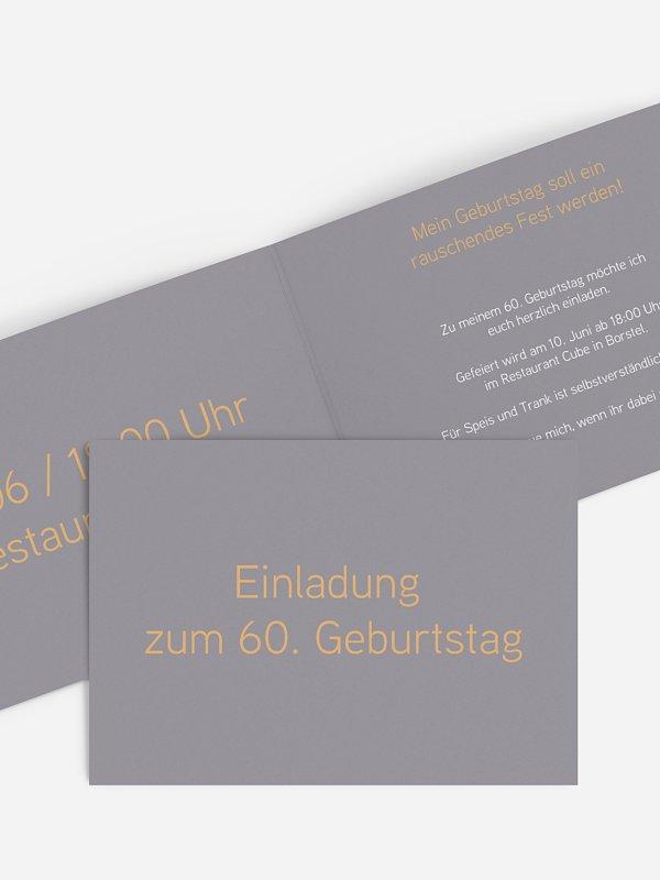 Einladung 60. Geburtstag Farbreich