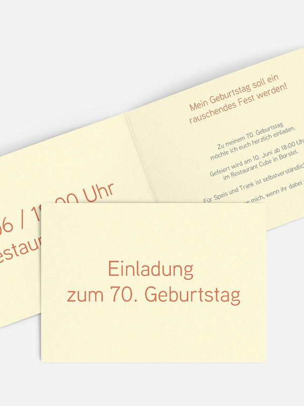 Einladung 70. Geburtstag Farbreich
