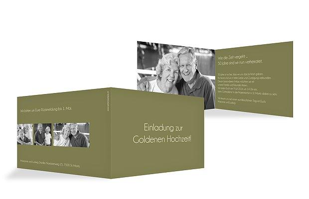 Einladung Zur Goldenen Hochzeit Farbreich