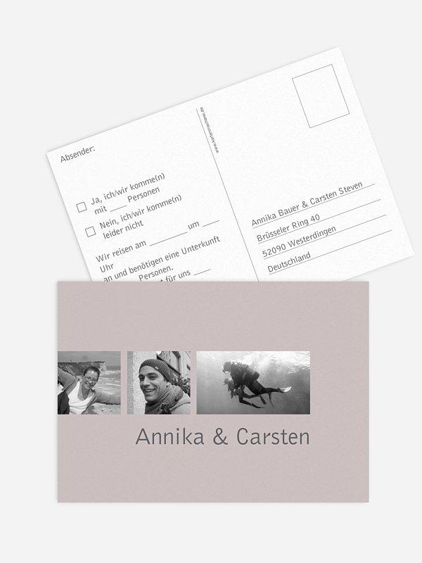 Antwortkarte Hochzeit Farbreich