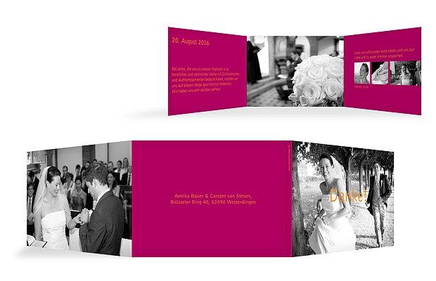 """Dankeskarte Hochzeit """"Farbreich"""""""