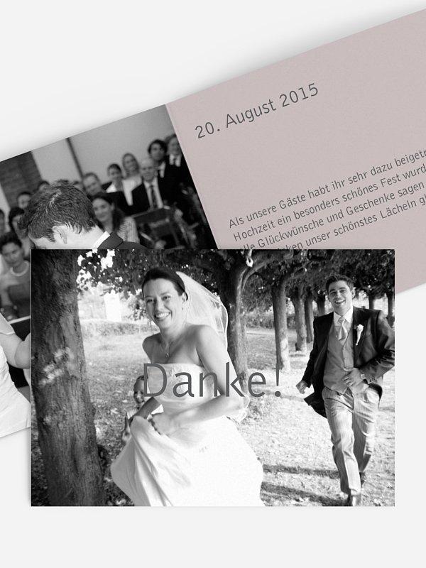 Dankeskarte Hochzeit Farbreich