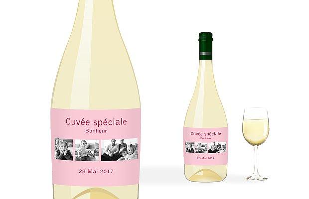 Étiquette bouteille Coloré
