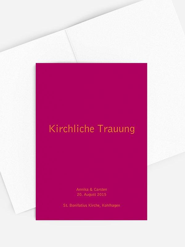 Kirchenheft Hochzeit Farbreich