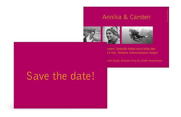 "Save-the-Date-Karte ""Farbreich"""