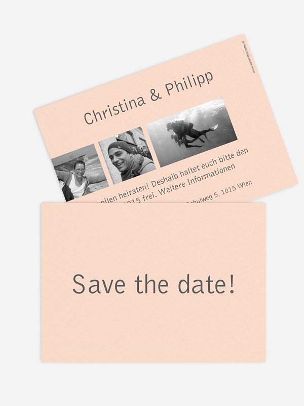 Save-the-Date Karte Farbreich