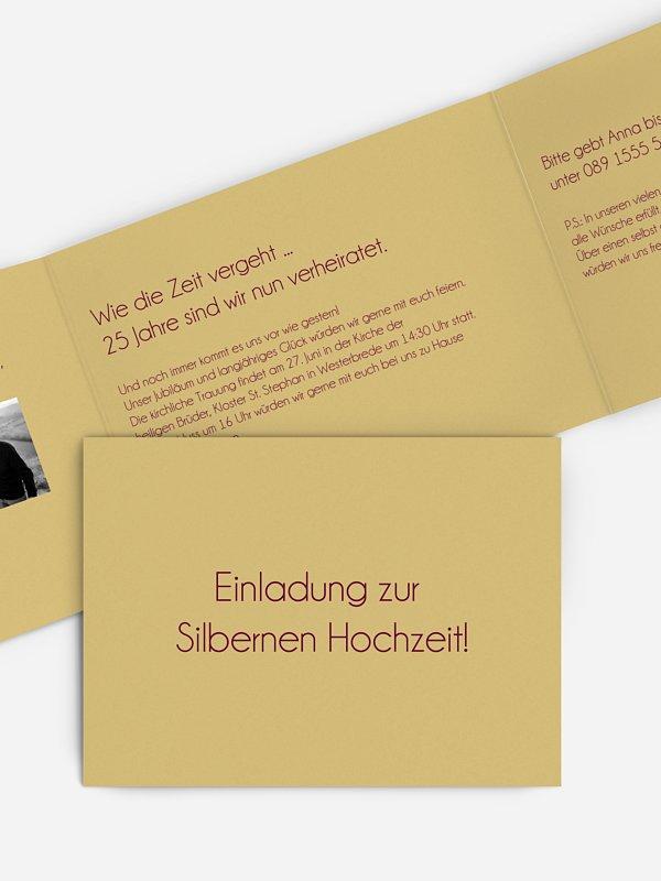 Einladung zur Silberhochzeit Farbreich