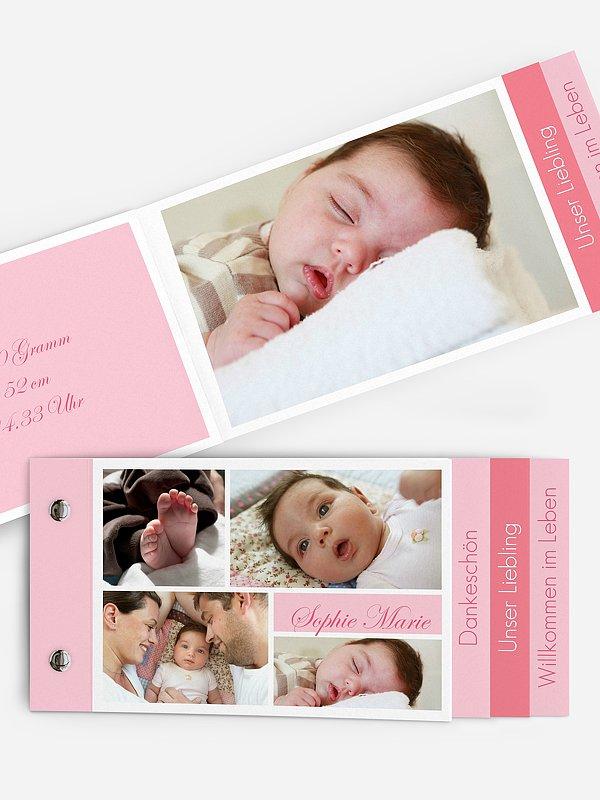 Geburtskarte Fotowand