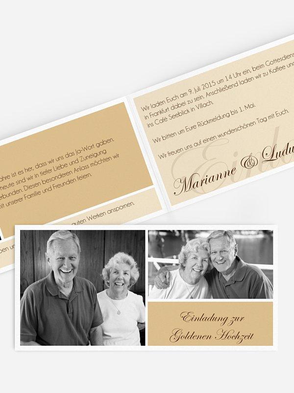 Einladung Goldene Hochzeit Fotowand