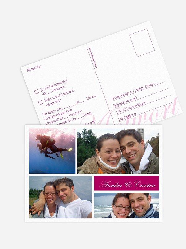 Antwortkarte Hochzeit Fotowand
