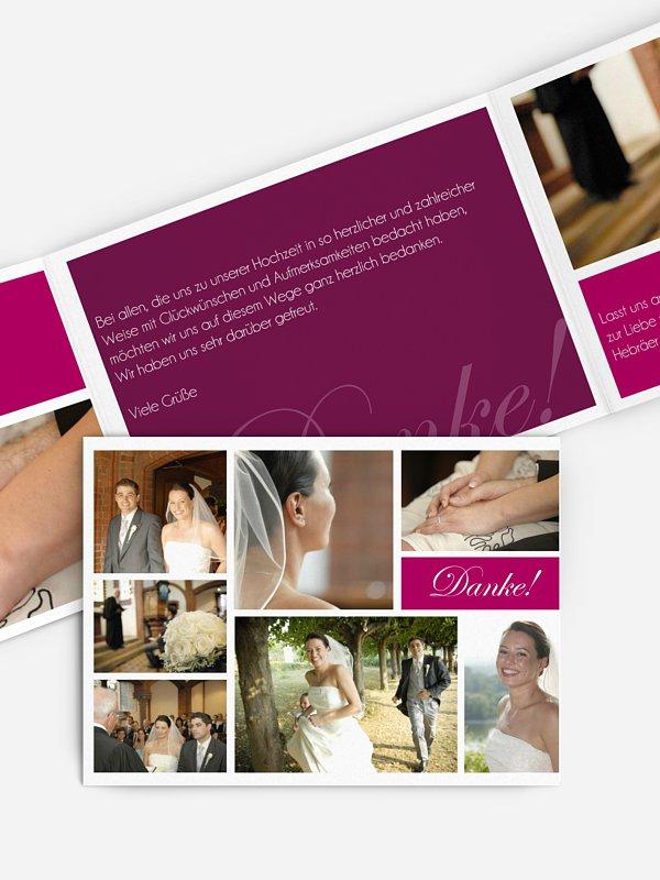 Dankeskarte Hochzeit Fotowand