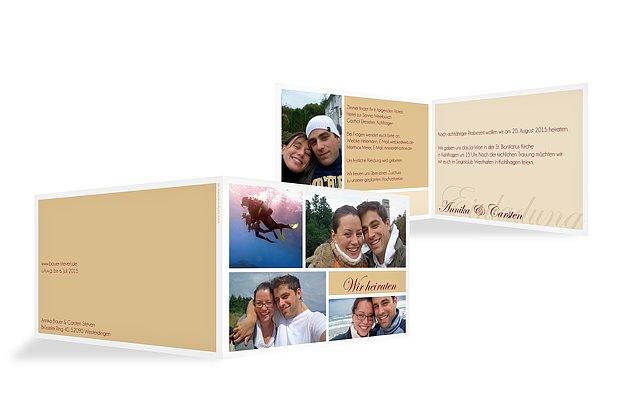"""Hochzeitseinladung """"Fotowand"""""""